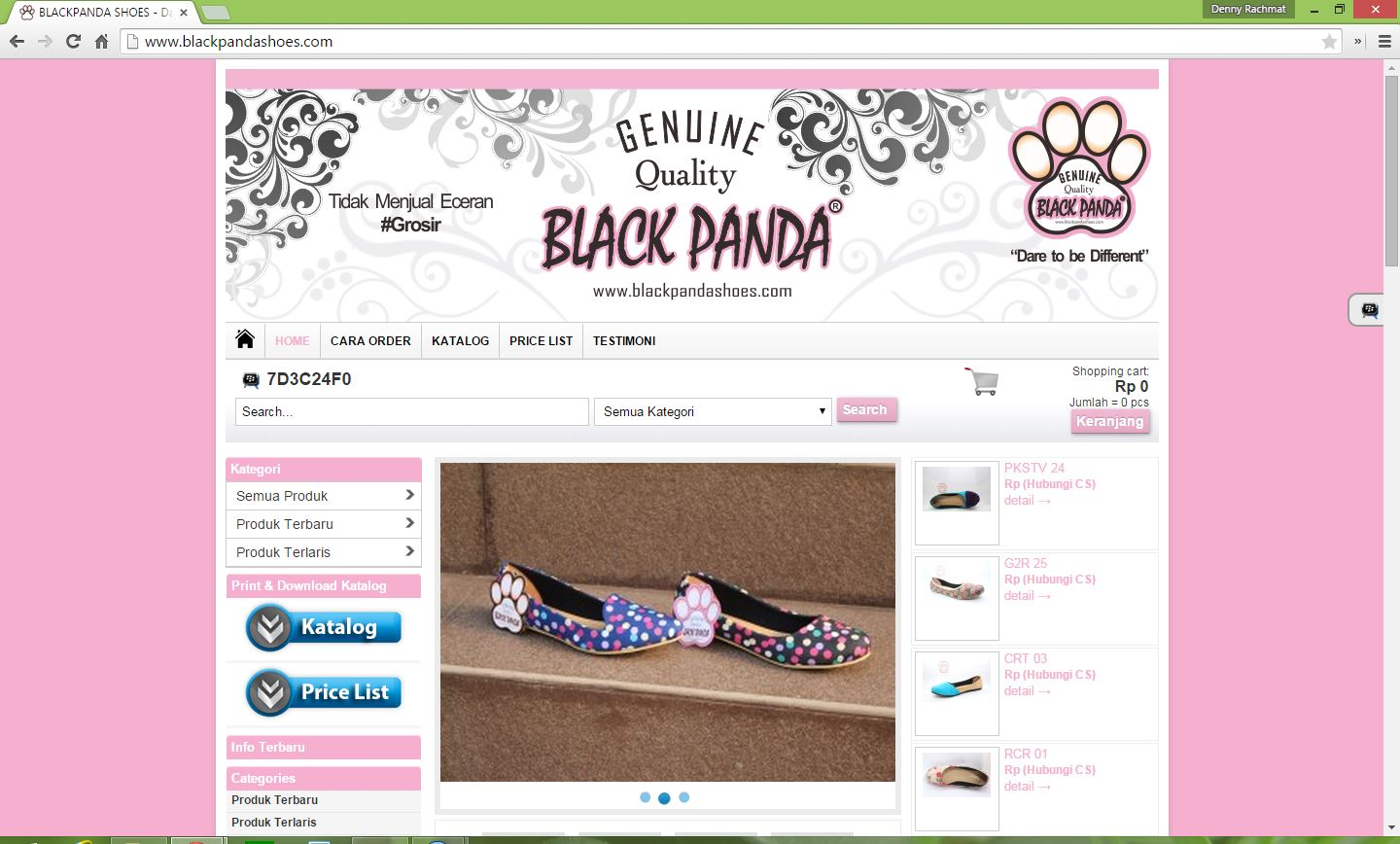 black panda shoes